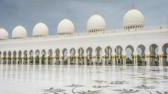 Domes and cloister (Bartholomew K Poonsiri) Tags: white building islam religion uae middleeast wideangle mosque structure abudhabi sheikhzayedgrandmosque sonyepz1650mmf3556oss sonyilce6000