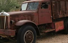 Sterling Dump Truck (Larry Myhre) Tags: arizona truck vintage 1938 rusty dumptruck sterling robsonsminingworld desertghosts