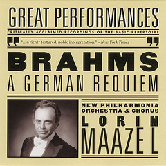 GREATPERFORMANCESBRAHMSCD (ESP1138) Tags: great performances johannes brahms german requiem lorin maazel new philharmonia orchestra chorus sony classical records compact disc album cover