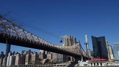 Clear Day Over 59th St. Bridge with Tram, NYC - IMGP4164 (catchesthelight) Tags: building industrial manhattan bluesky views queensborobridge rooseveltisland 59thstbridge tudorcity newyorkcityny springvisit edkochbridge april2016