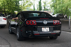 Ford Mustang GT V8 (aguswiss1) Tags: black ford wet rain us drops muscle mustang gt v8 musclecar ponycar uscar fordmustanggtv8 usmuscle