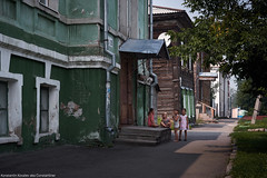 A village in the center of city |     (constantiner) Tags: streetphoto                    street streetphotography strangers childhood childhoodmemories children childrenphotography whitechildren europeanchildren candid citywalks city urban urbanism urbanexploration architecture woodenarchitecture summer summer2016 outdoor daytime daylight day tomsk tomskayaoblast siberia russia russianfederation russians pentax pentaxk3 sigma sigmaart sigmaart35mm 35mm