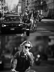 [La Mia Citt][Pedala] (Urca) Tags: milano italia 2016 bicicletta pedalare ciclista ritrattostradale portrait dittico bike bicycle biancoenero blackandwhite bn bw 872168