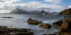 Elgol - A view from (Explored August 2016) (Turnpops) Tags: elgol isleofskye skye sea scotland rock mountians thecullins clouds longexposure canon6d leebigstopper hebrides highlands