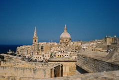 Valletta, from St Michael's Bastion (rgrant_97) Tags: malta valletta olympus trip 35 olympustrip35 film
