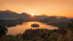 Sunrise at Lake Bled (Dejan Hudoletnjak) Tags: lakebled bled slovenia landscape sunrise mountains valley morning summer summermorning summersunrise nature land earth slovenija