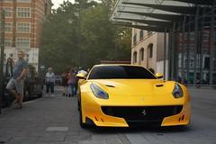 F12 TDF (SupercarsofBC) Tags: ferrari f12 berlinetta tdf tour de france giallo v12 engine limited carbon fiber car supercar exotic knightsbridge london england united kingdom 2016 sbc