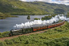 B1 61264 07082005 (Waddo's World of Railways) Tags: locheilt westhighlands westhighlandline scenic steam loco locomotive b1 61624 highlands scotland uk mountains loch rail railway charter railtour train coaches wcr westcoastrailways whl whlr fortwilliam mallaig smoke driver fireman steamlocomotive steamloco 624 sun hills hill lake