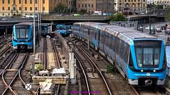 Stockholm, Sweden: Gamla Stan transfer station, Red & Green Line (nabobswims) Tags: gamlastan hdr highdynamicrange lightroom metro nabob nabobswims photomatix se sl stockholm subwayubahn sweden tbana tunnelbana stockholmin
