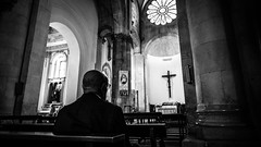 Praying - Troia, Italy - Fine art black and white photography