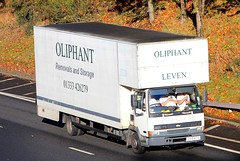 Leyland DAF 45 - OLIPHANT Removals Leven Fife (scotrailm 63A) Tags: lorries trucks removals