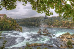 The power of nature (blavandmaster) Tags: waterfall suisse rheinfall clouds castle countryside 2016 ciel himmel landschaft storybook schaffhausen ferrytale incredible wolken handheld 24105 photomatix schweiz christiankortum flus canon rhine rivire landscape water chutesdurhin wasser schlosslaufen processing mighty strong hdr beautiful river rhin interesting lovely wasserfall switzerland light awesome herbst complete eos6d autumn perfect rhein nuages eau sky