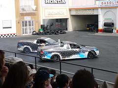 Double Drift, Movie World Stunt Car Show (Yortw) Tags: world show car movie lumix australia double panasonic qld april stunt drift goldcoast 2015 oxenford microfourthirds dmcg10