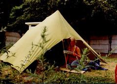 Frankrijk (Steenvoorde Leen - 14.9ml views) Tags: 1973 frankrijk france girl tent kamperen camping