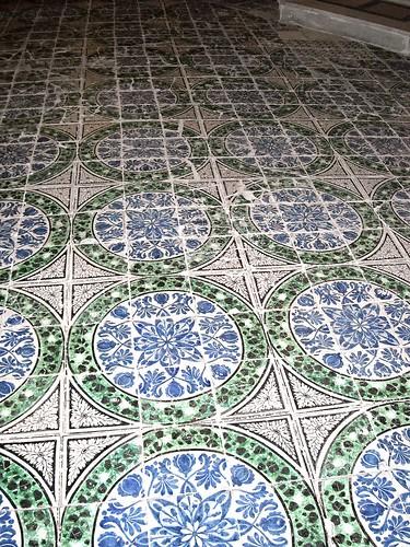 Ceramic floor 19th century - Ecce Homo al Cerriglio Confraternity in Naples