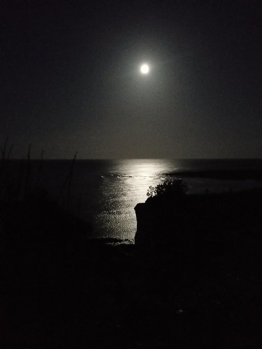 Not quite full moon over Kingsgate bay