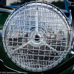 Geneva Headlight (Jim Frazier) Tags: old summer copyright abstract detail heritage history classic cars texture car metal vintage square grid illinois iron mechanical geneva pov antique circles steel wheels july symmetry historic grill il equipment machinery vehicles study transportation squaredcircle historical symmetrical shows trucks headlight machines kanecounty kane perpendicular centered classiccars automobiles q3 apparatus devices linedup 2014 rounds carshows headon radials jimfrazier centralperspective towm jimfraziercom