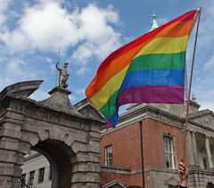 Rainbow Flag & Justice: Marriage Referendum: In The Upper Yard, Dublin Castle (Skyroad) Tags: