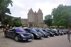 27 C6 devant la cité de Carcassonne (Club Citroën C6 France) Tags: france les 30 club de 22 citroen meeting citroën essence gorges 27 aude exclusive carcassonne minerve c6 francais v6 rencontre 240 bains limoux 2015 alet galamus lignage