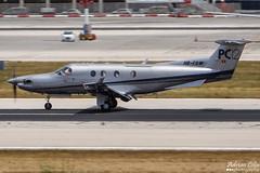Private --- Pilatus PC-12 --- HB-FOW (Drinu C) Tags: plane private aircraft aviation sony pilatus pc12 panning dsc mla bizjet privatejet hbfow lmml hx100v adrianciliaphotography