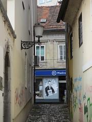 Narrow passage to Trubarjeva cesta, Ljubljana, Slovenia (Paul McClure DC) Tags: architecture historic slovenia ljubljana slovenija may2015