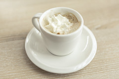 Espresso with Whipped Topping in White Cup on Saucer (Image Catalog) Tags: white cup coffee drink coffeecup cream espresso caffeine tabletop saucer whipped publicdomain