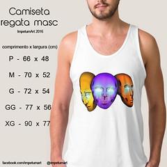 Regata Masculina (IMPETUM T) Tags: art moda infantil indie camiseta altura roupas tamanho ilustraes blusas babylook vestimentas comprimento largura impetum impetumart