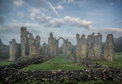 Mists of time (grbush) Tags: uk england sky mist castle fog clouds lumix ruins arch norfolk olympus panasonic g3 priory monastry englishheritage castleacre castleacrepriory lumixg