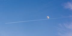 UnderLined (In Explore) (brianmurphy1950 ....Thanks For Your Visit) Tags: moon canada nikon okanagan aircraft brian columbia valley handheld british contrails penticton murphy d7100