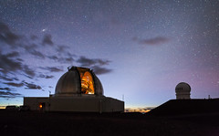 Sunrise on Mauna Kea (geekyrocketguy) Tags: canada france hawaii nasa telescope andromeda galaxy infrared astronomy bigisland facility telescopes maunakea zodiacallight cfht zodiacal irtf
