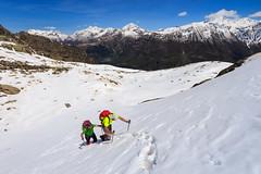 Cambio di Pendenza (Roveclimb) Tags: schnee mountain snow alps trekking hiking adventure neve mountaineering alpinismo alpi montagna avero alpinism drogo valchiavenna avventura escursionismo vho prestone pizzostella lirone fraciscio gualdera cimaganda vallesangiacomo alpigia passodellalpigia valdigiuust valletarda