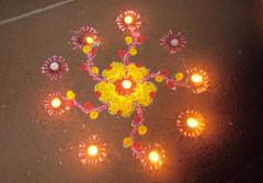 w_light_kolam_4892 (Manohar_Auroville) Tags: light mandala tradition diwali luigi tamil auroville kolam fedele manohar tamilbeauty