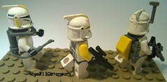 lego star wars yellow clones (lego3130starwars) Tags: yellow star lego clones wars custom lego3130starwars
