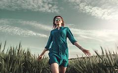 Run (maksimermak) Tags: light sky cloud color girl field lights nikon russia run        drass    nikond3100
