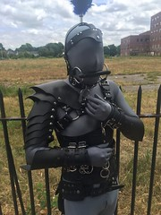 Out In Public Pony Play (AgentDrow) Tags: bdsm prideparade zentai ponyplay rochesterpride