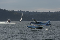 Landing in the Sixties (Ian@NZFlickr) Tags: sydney harbour float plane yacht ferry catalina restaurant 60 australia