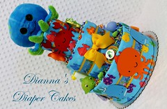 Under the sea baby diaper cake (Dianna's Diaper Cakes) Tags: baby diaper cakes shower centerpieces gifts boys girls neutral diannas decoration