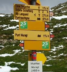 Miottas Muragl (Ronile35) Tags: wegweiser muottasmuragl graubnden schweiz