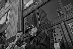 Market Street, 2016 (Alan Barr) Tags: philadelphia 2016 marketstreeteast marketstreet marketeast street sp streetphotography streetphoto blackandwhite bw blackwhite mono monochrome candid people ricoh gr