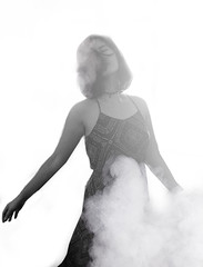 14/365 (katrinakurt) Tags: 365days 365 project selfportrait smoke blackandwhite