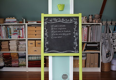 My To-Do List (PatchworkPottery) Tags: chalkboard list craftroom studio todolist storage organization closet crafts books fabric sewing quilting