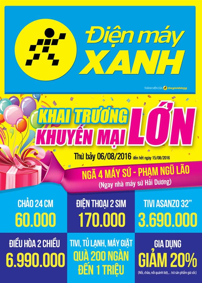 Khai trương siêu thị Điện máy XANH Phạm Ngũ Lão, Hải Dương
