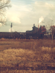 indiana is a wasteland (leidio) Tags: indiana gary toxic pollution industry steel factory wasteland lakeshore railroad amtrak dunes trains smog