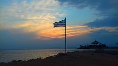 #lykavitos #athens #greece #hellas #sunset #sea #beach #flag (@ngel05) Tags: athens sea beach greece hellas sunset flag glyfada