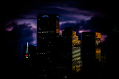 Moody Night_5883 (miss_betty2012 (not available much)) Tags: cityscape dallas dark dramatic nikcollection sunset texas downtown clouds colors stormclouds moody buildings