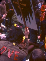 Melbourne University (PROSH week) 1967 Swanston St- Make Love not War (Graeme Butler) Tags: school melbourneuniversity history heritage government design culture architecture melbourne victoria australia