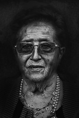 The Signs of Aging (Alice Consonni) Tags: photo photography lee jeffries inspiration bnw hdr black white blackandwhite nikon d80 alice consonni grandma old woman portrait portraiture dramatic signs aging outdoor natural light photoshoot birthday grandmother italian italy people fine art