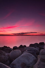 Usual sunset (alexander.bigel) Tags: sunset sunrise stones water belarus gnd hnd