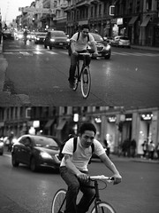 [La Mia Citt][Pedala] (Urca) Tags: milano italia 2016 bicicletta pedalare ciclista ritrattostradale portrait dittico nikondigitale mir biancoenero blackandwhite bn bw 889103