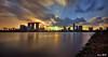 Singapore Skyline (re-processed) (Ken Goh thanks for 2 Million views) Tags: singapore skyline sunset golden sun blue sky reflection water smooth silhouette rays pentax k5iis gardenbythebay marinabarrage citiscape k5 sigma 1020